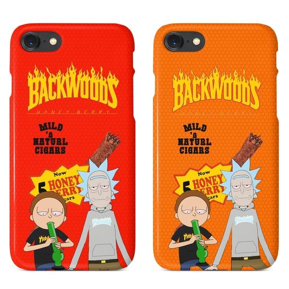 designer fashion cca67 d254a Rick Morty Thrasher Backwoods iPhone 5 6 7 X Case